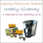 Keurig Giveaway Week 2 – over