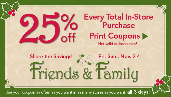 25% Off Your Total Purchase at JoAnn's