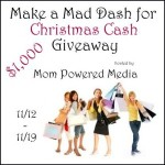 Enter to Win in the Mad Dash for Christmas Cash Giveaway – Over