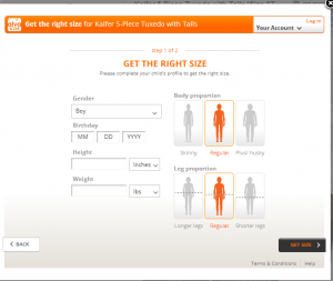 sizing tool simple
