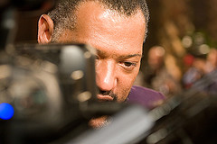 Fishburne...in your face