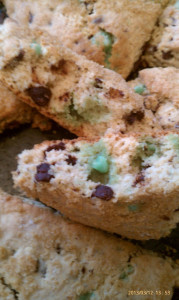 Lucky Mint Chocolate Chip Scones
