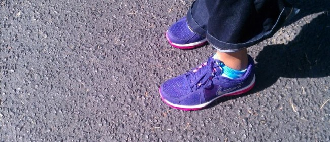 My Purple Tennis Shoes for my Ravens.