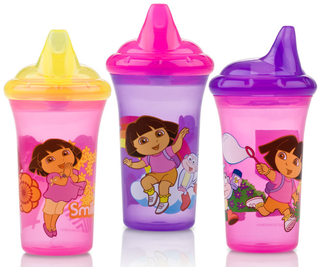 Nuby Dual Flo Nickelodeon Printed Hard Spout Cup Review