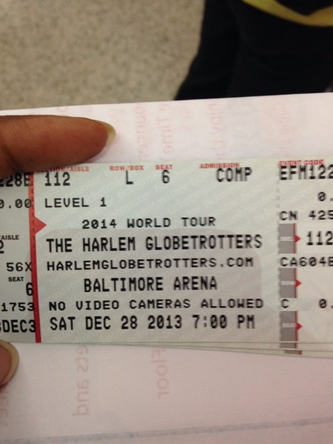 Our First Ever Harlem Globetrotters Game #ptpaGlobies @Globies @PTPA