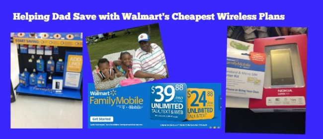 Helping Dad Save with Walmart's Cheapest Wireless Plans #FamilyMobile #Shop