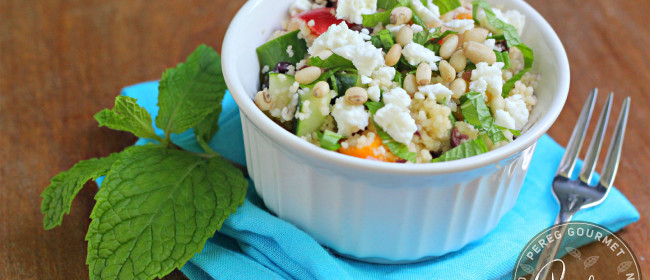 Greek Couscous Salad via Pereg Gourmet Grains