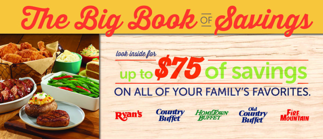 Ryan's, HomeTown Buffet, and Old Country Buffet Book of Savings Giveaway