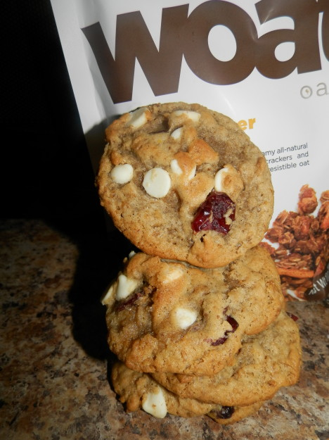 Woats Cranberry & White Chocolate Chip Cookies