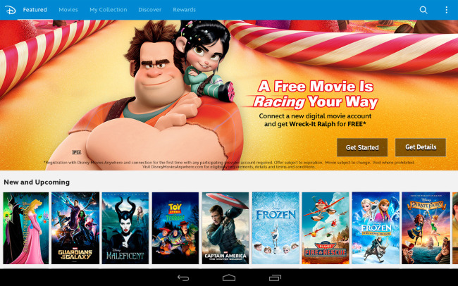 Disney Movies Anywhere Available on Google Play