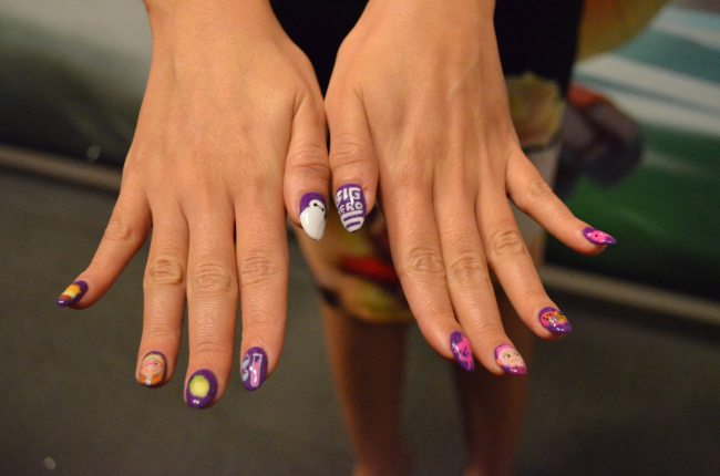 Genesis' nails she had them done for the premiere. Photo credit: 7onashoestring.com