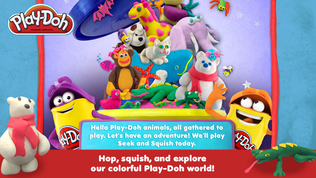 Play-Doh Seek & Squish PlayDate Digital App Review