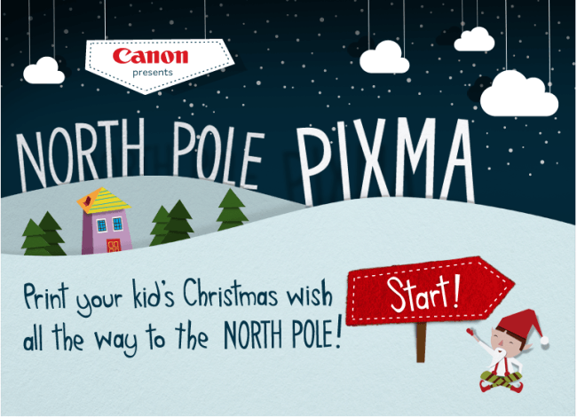 Print Your Kids Wishlist in the North Pole with PIXMA