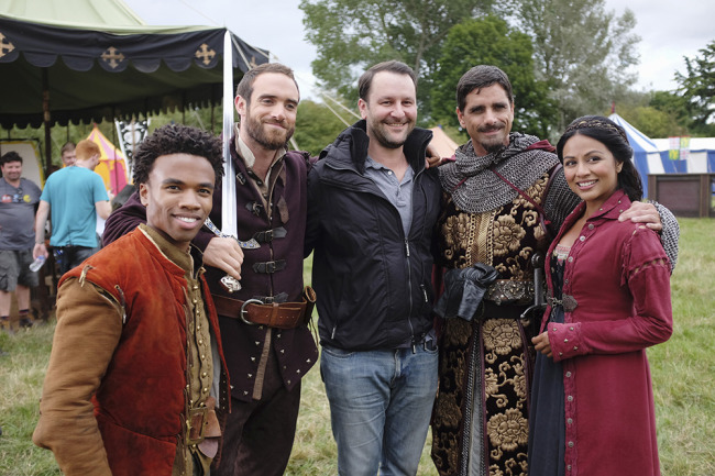 "GALAVANT - ""Joust Friends"" (ABC/Nick Ray) KAREN DAVID, JOSHUA SASSE, DAN FOGELMAN (EXECUTIVE PRODUCER), LUKE YOUNGBLOOD, JOHN STAMOS, KAREN DAVID"