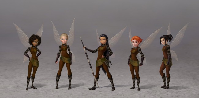 Tinker Bell and the Legend of the NeverBeaset_Scout Fairies_Lineup (