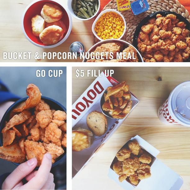 Stage A Nugget-vention With KFC Popcorn Nuggets