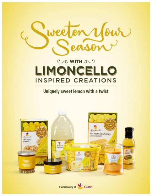 Giant Foods Introduces Limoncello Line of Products