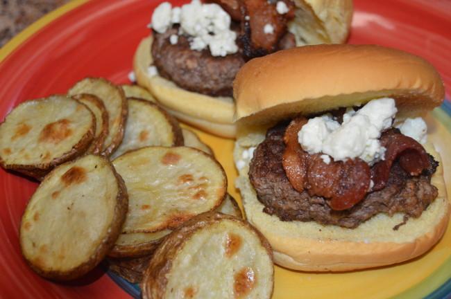 Bacon Blue Cheese Burger Sliders - Nicki's Random Musings