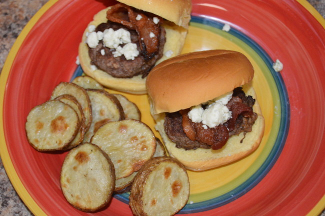 Bacon Blue Cheese Burger Sliders (2)