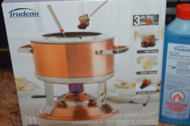 Trudeau Copper Fondue Set