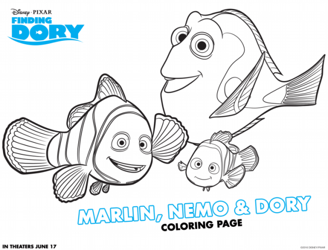 Finding Dory Coloring Sheets - Free Finding Dory Activity Sheets via nickisrandommusings.com