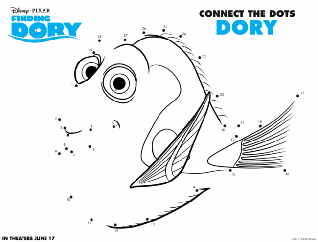 Free Finding Dory Activity Sheets #FindingDory