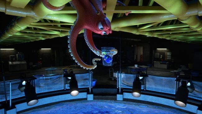 """FINDING DORY –Hank is an octopus—or actually a """"septopus"""": he lost a tentacle—along with his sense of humor—somewhere along the way. When Dory finds herself at the Marine Life Institute, a rehabilitation center and aquarium, Hank reluctantly agrees to help her navigate the massive facility. Directed by Andrew Stanton, """"Finding Dory"""" opens on June 17, 2016. ©2016 Disney•Pixar. All Rights Reserved."""