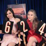 Sabrina Carpenter and Sofia Carson on Adventures in Babysitting