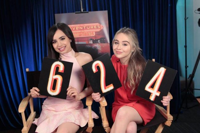 Sabrina Carpenter and Sofia Carson on Adventures in Babysitting