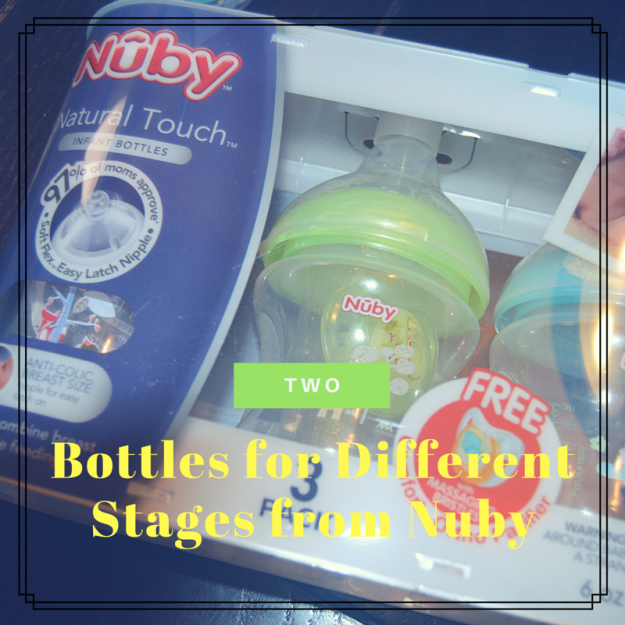 Two Bottles for Different Stages from Nuby