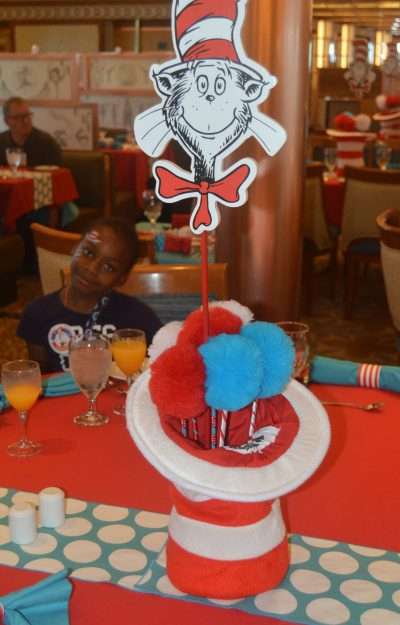 Cat in the Hat Breakfast Carnival Pride Table decor