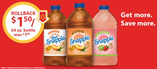 Snapple® Tea On Rollback at Walmart #ad #SnappleRollback