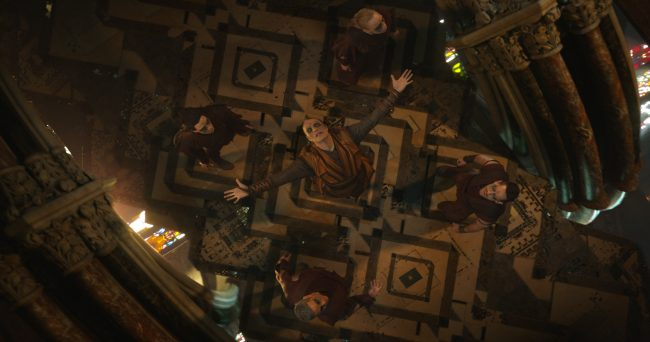 Marvel's DOCTOR STRANGE..Kaecilius (Mads Mikkelsen) and the Zealots..Photo Credit: Film Frame ..©2016 Marvel. All Rights Reserved.