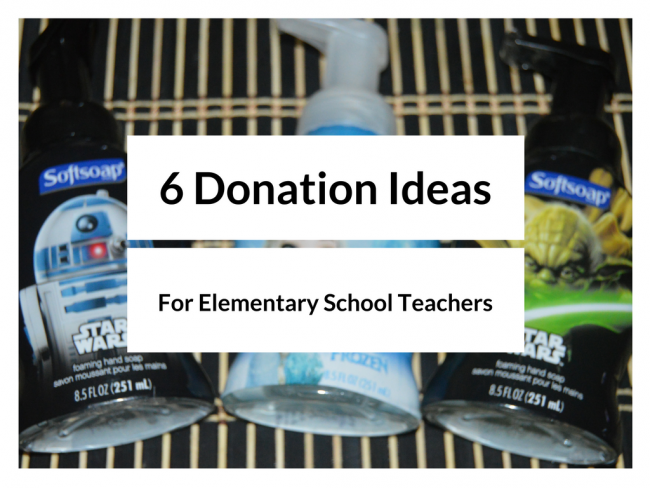 Six Donation Ideas for Teachers
