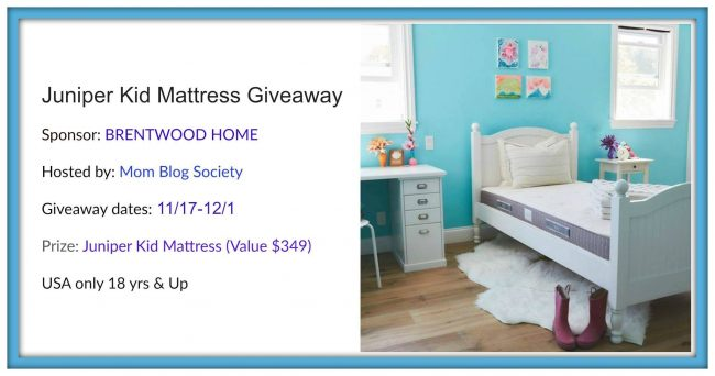 Juniper Kids Mattress Giveaway