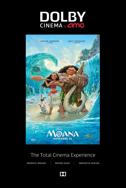 My Moana Dolby Cinema at AMC Experience #shareAMC #Moana #ad