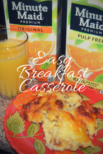 Easy Breakfast Casserole For Holiday Brunch #MinuteMaidHoliday #CBias #ad