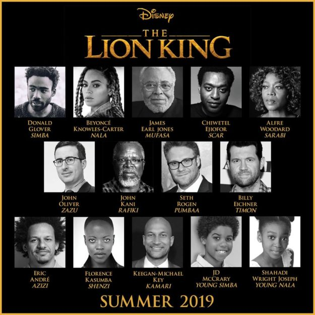 Cast Announcement for Live Action Lion King Movie